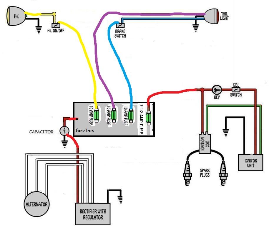 basic xs650 headlight wiring diagram ow 1474  bates headlight wiring diagram schematic wiring  headlight wiring diagram schematic wiring