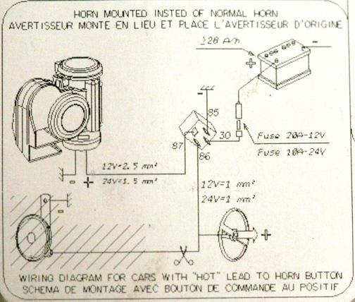 Ga 6836 12v Air Horn Wiring Diagram Schematic Wiring