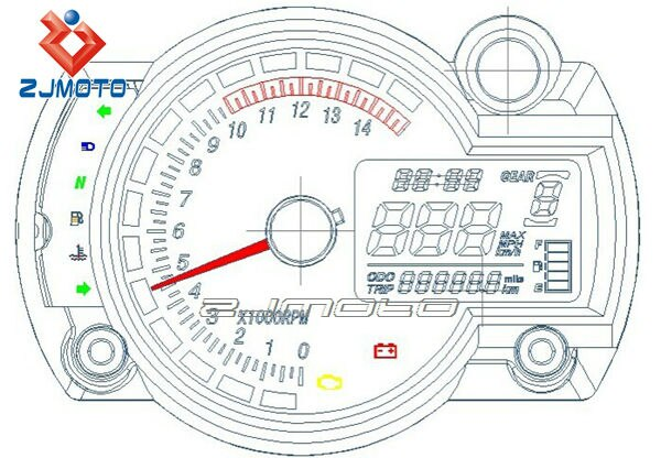 Tc 7366  Electric Speedometer With Odometer Wiring Diagram Download Diagram