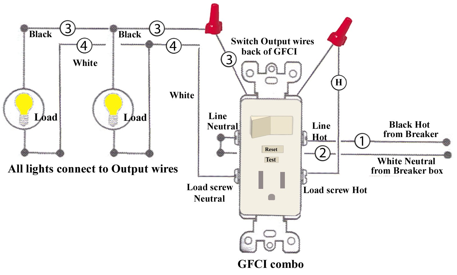 Diagram  Need Help With Wiring A Gfci Combo Switch Outlet Into Current Light Switch Wiring
