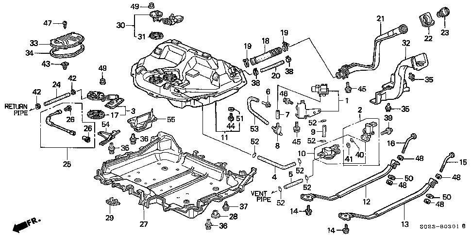 acura el wiring diagram dx 0694  1996 honda accord gas tank diagram schematic wiring  1996 honda accord gas tank diagram