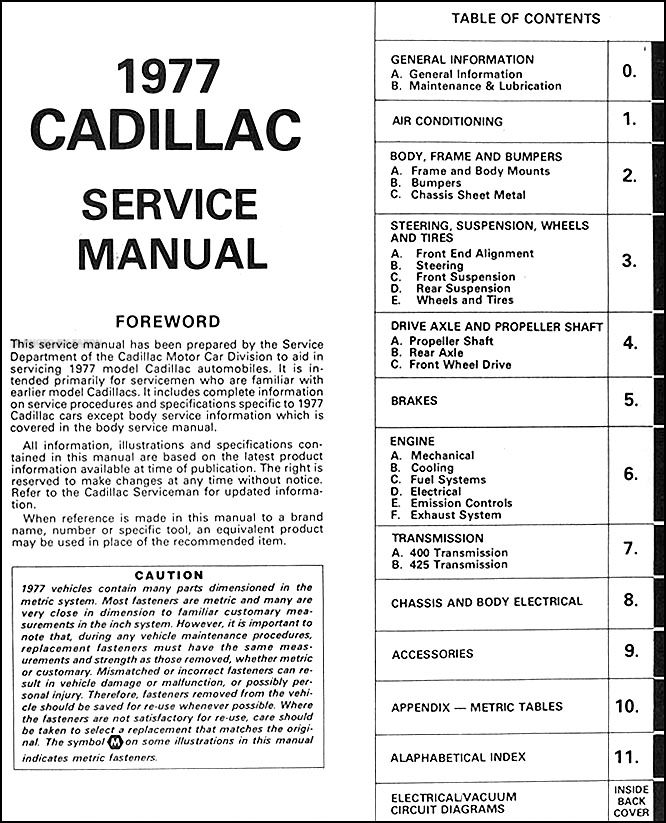 MM_7752] 1977 Cadillac Deville Wiring Diagrams Free Diagram