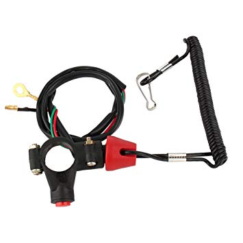 Astounding 12V 2 Wires Motorcycle Engine On Off Kill Switch Safety Tether Wiring Cloud Dulfrecoveryedborg