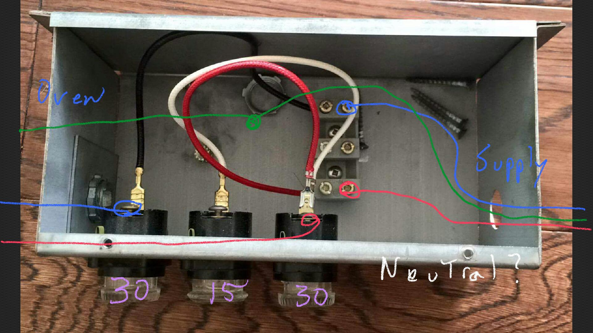 Outstanding Electrical Wire A 30A 15A 30A Fuse Box To A 4 Wire 120V 240V Oven Wiring Cloud Genionhyedimohammedshrineorg