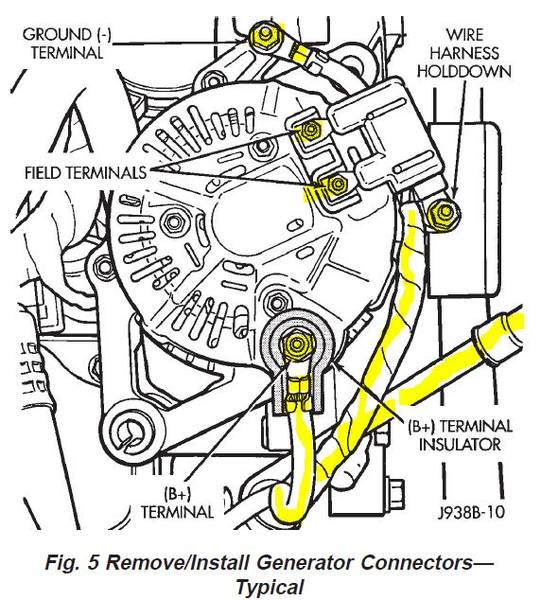 1999 jeep cherokee sport alternator wiring  top wiring