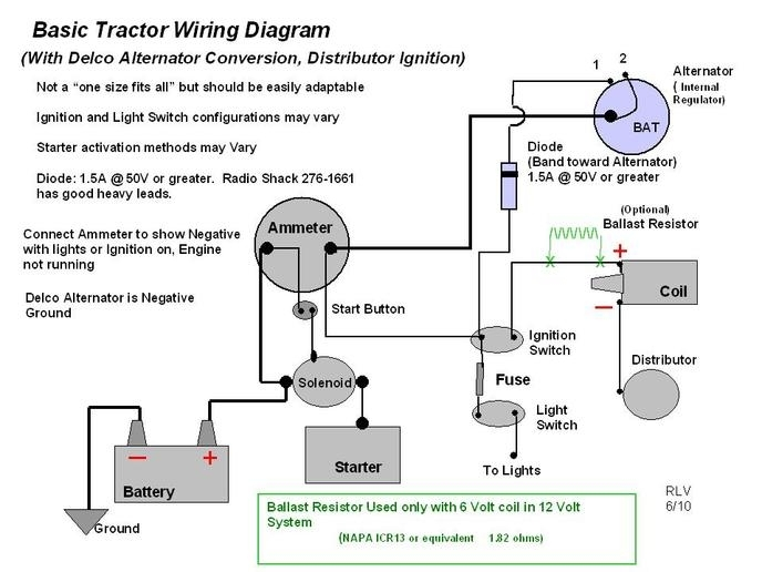 Astonishing Wiring Diagram For 6V Tractor Voltage Regulator Positive Ground Wiring Cloud Faunaidewilluminateatxorg