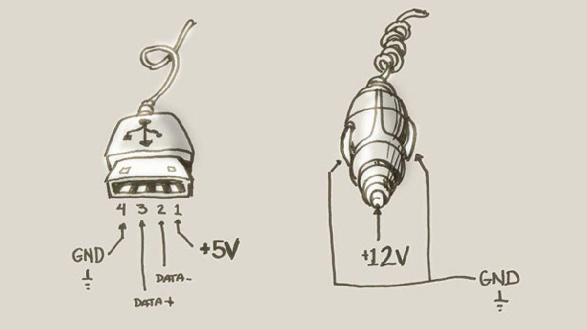 12v Cigarette Lighter Plug Wiring Diagram