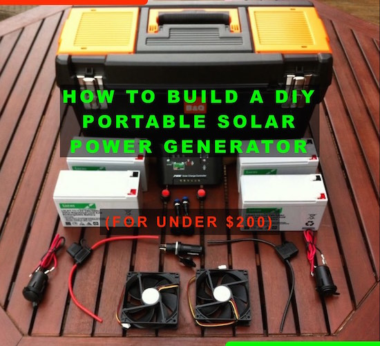 Simple Diy Portable Solar Power Box For