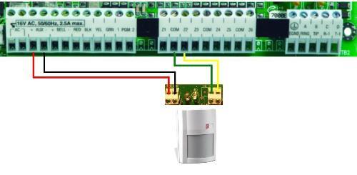 gz7452 dsc motion detector wiring diagram schematic wiring