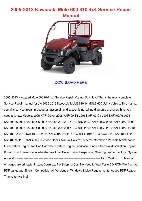 Tx 0294 Kawasaki Mule Fuel Pump Wiring Diagram Download Diagram
