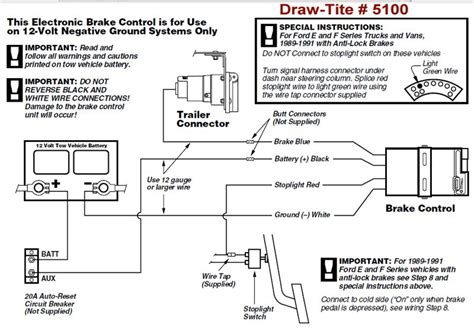 Zn 6954 Draw Tite Brake Controller Wiring Diagram Schematic Wiring