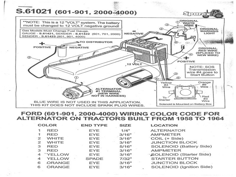 Wiring Diagram Ford 600 Tractor
