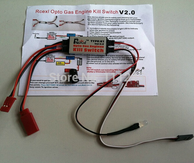 Super Rcexl Cdi Remote Kill Switch V2 0 K1 Type Fits Opto More Gas Rc Wiring Cloud Icalpermsplehendilmohammedshrineorg