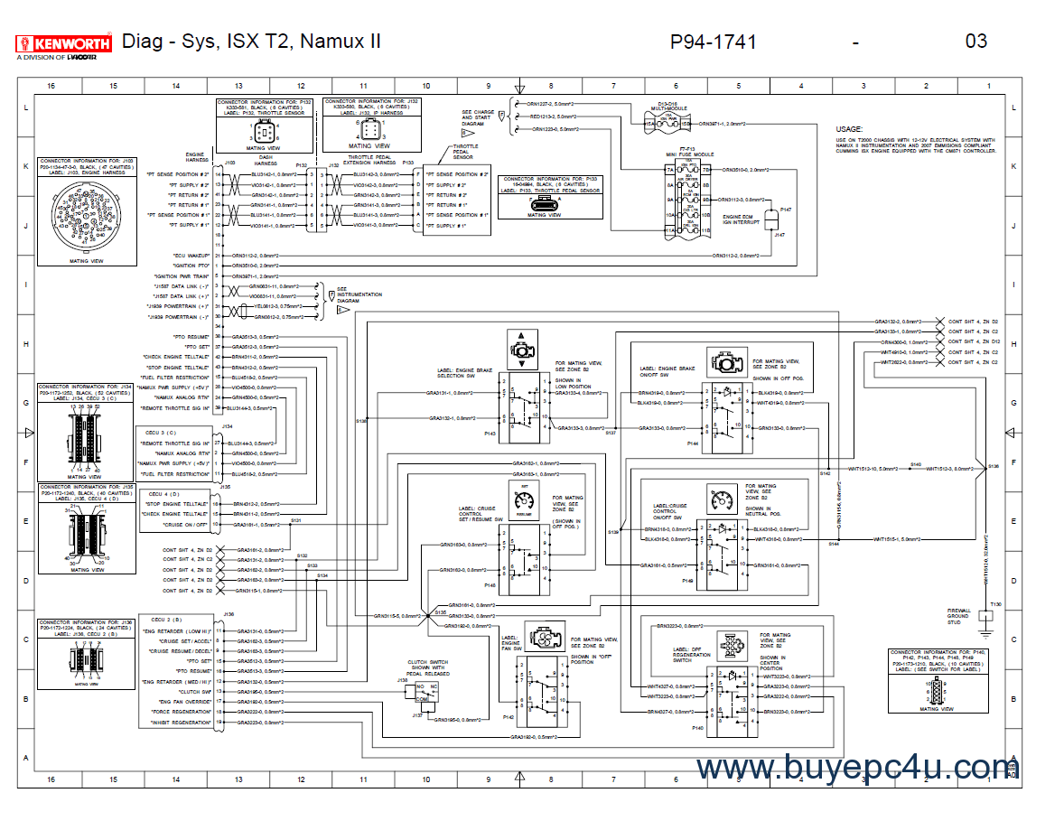 Diagram  Truck Kenworth T800 Turn Signal Wiring Diagram