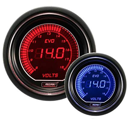 Incredible Amazon Com Volt Gauge Electrical Red Blue Evo Series 52Mm 2 1 16 Wiring Cloud Intelaidewilluminateatxorg