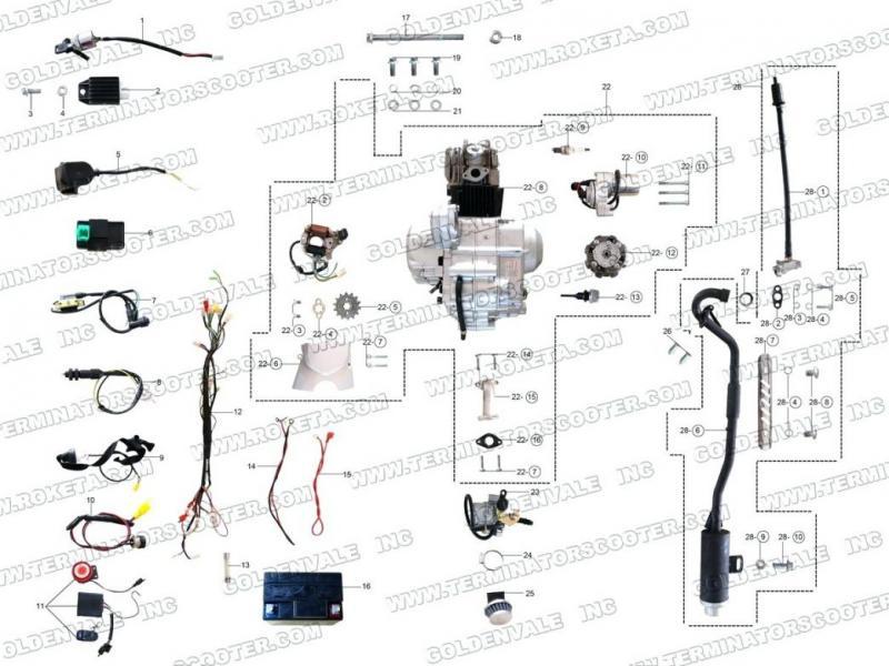 49cc Mini Chopper Wiring Schematic