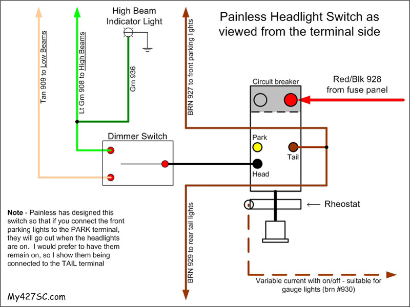 painless wiring harness 1966 potiac ov 9121  comwiring question for american autowire headlight switch  american autowire headlight switch