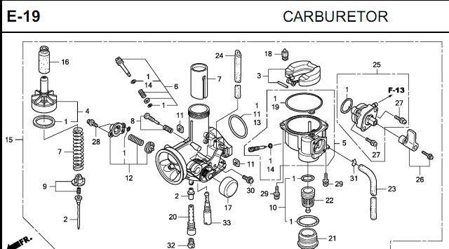 Ao 6054  Honda Motorcycle Carburetor Diagram Free Diagram