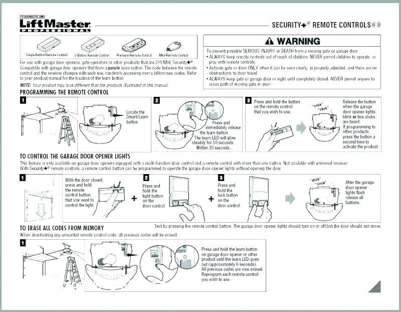 Liftmaster Garage Door Remote Control Manual