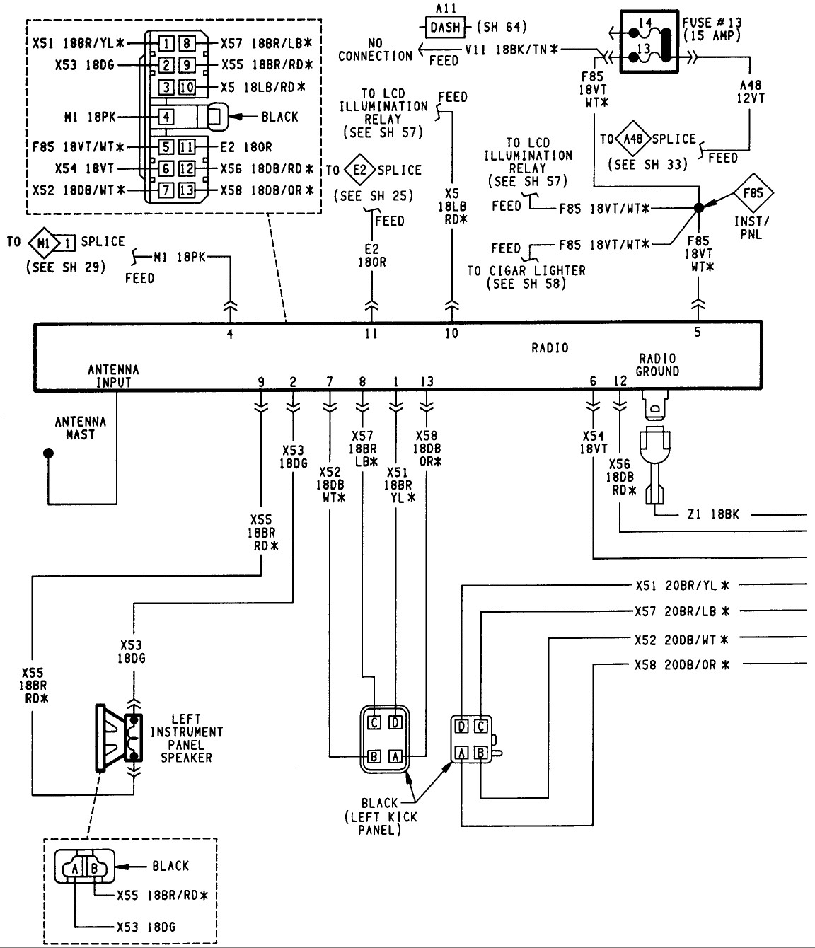Jeep Grand Cherokee Audio Wiring Diagram