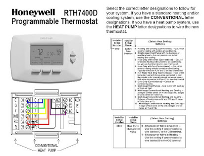 Hd 2565 Rth7500d Programmable Thermostat Wiring Diagram For A Heat Pump System Schematic Wiring