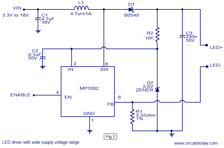 Cool Led Driver Based On Mp3302 Led Driver Ic Working Circuit Diagram Wiring Cloud Rdonaheevemohammedshrineorg