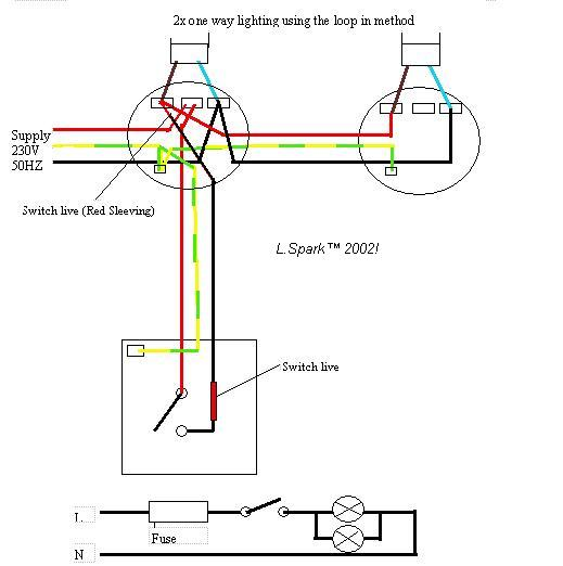 Fine Electrics Single Way Lighting Wiring Cloud Uslyletkolfr09Org