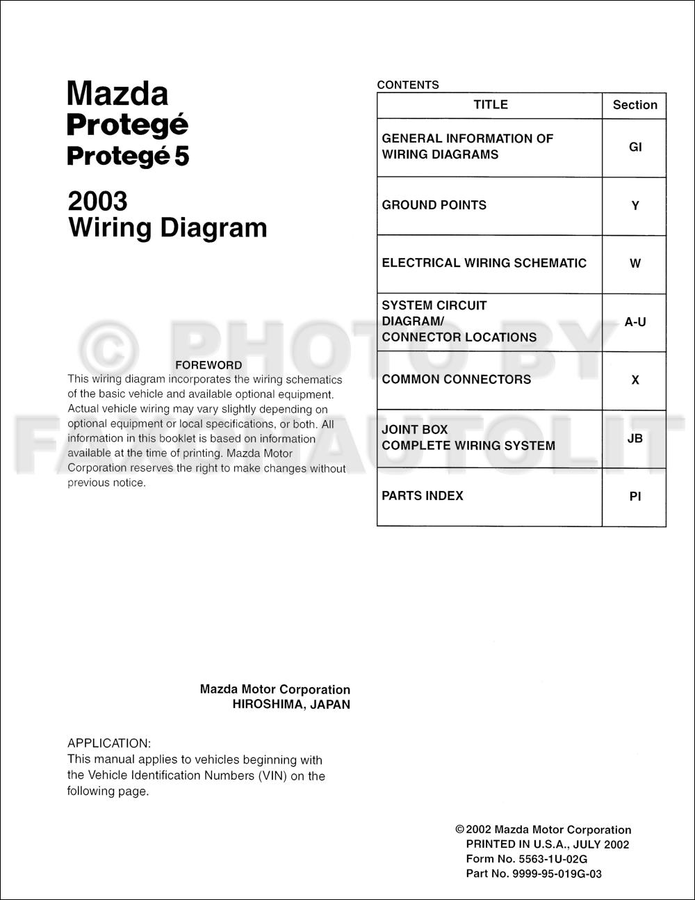 Mazda Protege5 Stereo Wiring Diagram