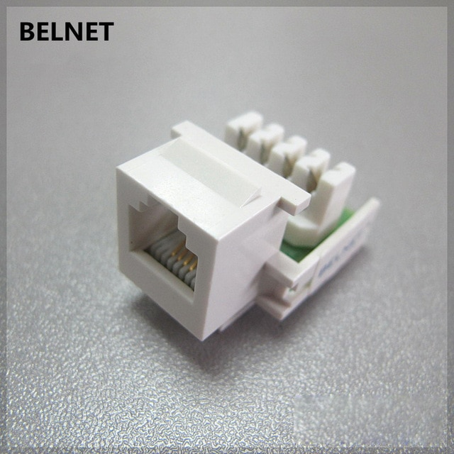 Peachy Rj11 Telephone Voice Module Rj45 Connector Gold Plated 6P4C Copper Wiring Cloud Animomajobocepmohammedshrineorg
