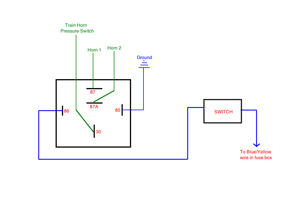 5 wire relay schematic bf 5834  5 wire horn diagram wiring diagram  bf 5834  5 wire horn diagram wiring diagram