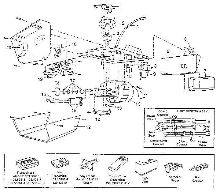Sears Craftsman Garage Door Opener Wiring Diagram