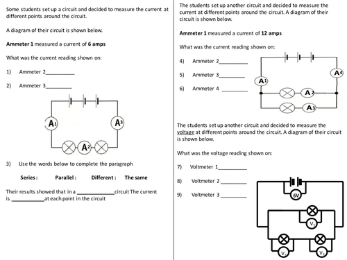Pleasing Current Voltage In Circuits Questions Worksheet By Wiring Cloud Timewinrebemohammedshrineorg