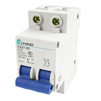 sourcingmap/® DZ47-63 C16 16A 400VAC 6000A Breaking Capacity 2 Poles Circuit Breaker