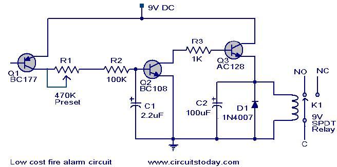 Phenomenal Low Cost Fire Alarm Circuit Working Circuit Scematic Wiring Cloud Histehirlexornumapkesianilluminateatxorg