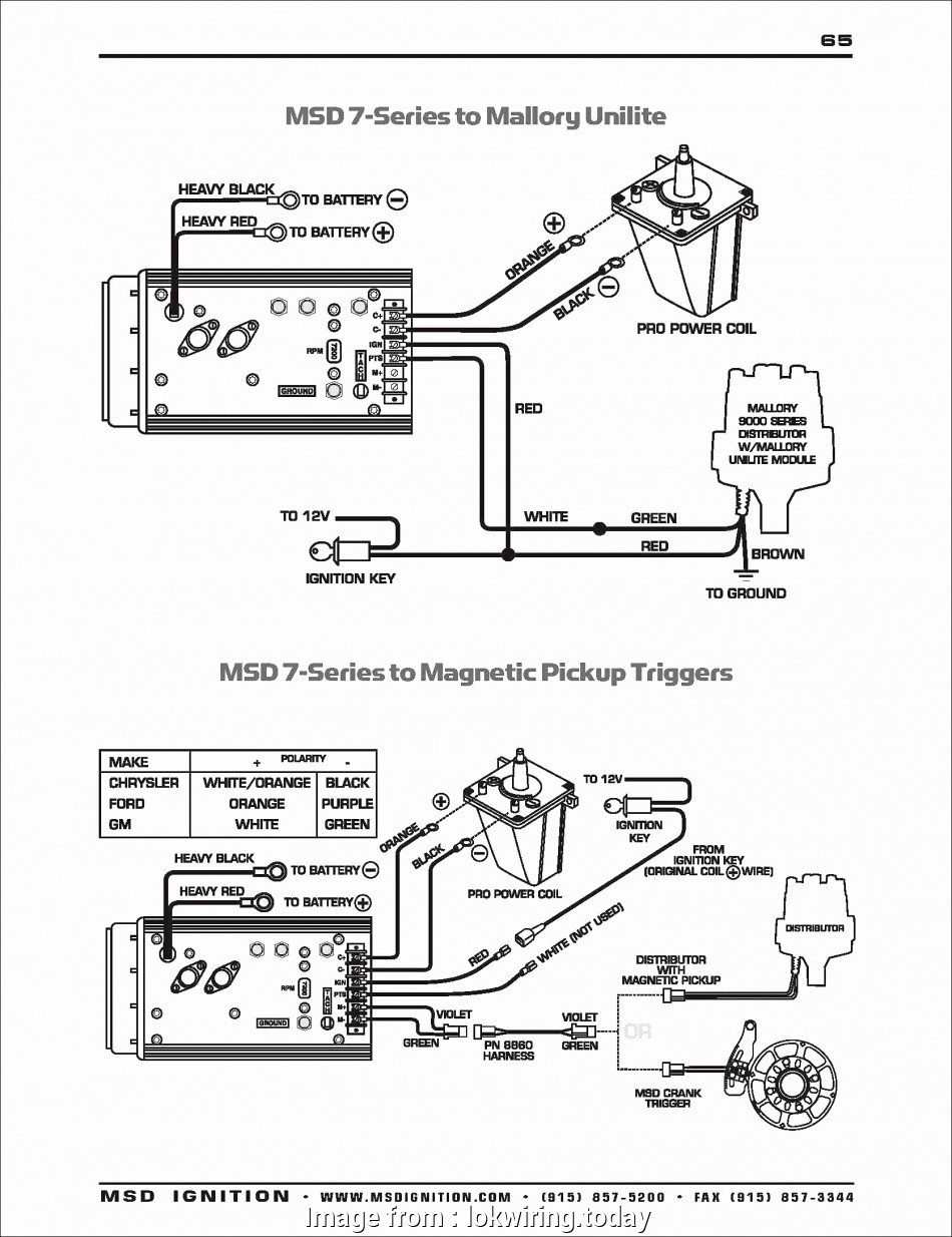Rb 2250  Msd 6al Ignition Wiring Ignition Wiring Diagram