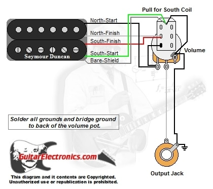 yamaha l2gf wiring diagram av 0578  guitar wiring diagram 1 humbucker 1 volume pull for south  guitar wiring diagram 1 humbucker 1