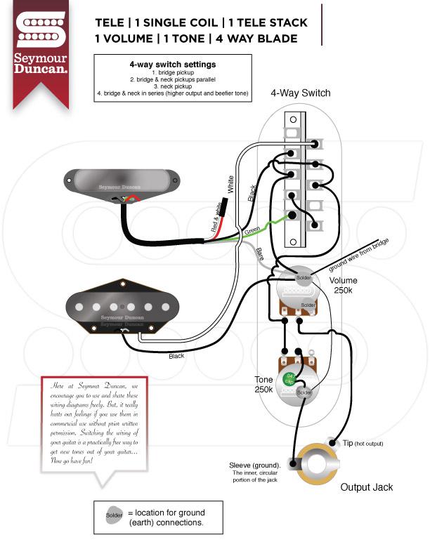 yw6206 seymour duncan tele hot rails neck wiring diagram