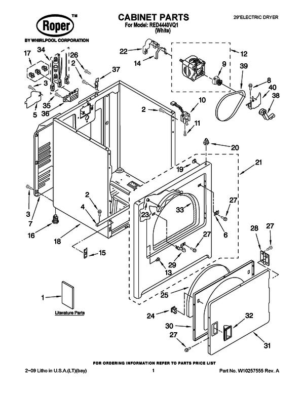 Roper Rex5634kq1 Wiring Diagram