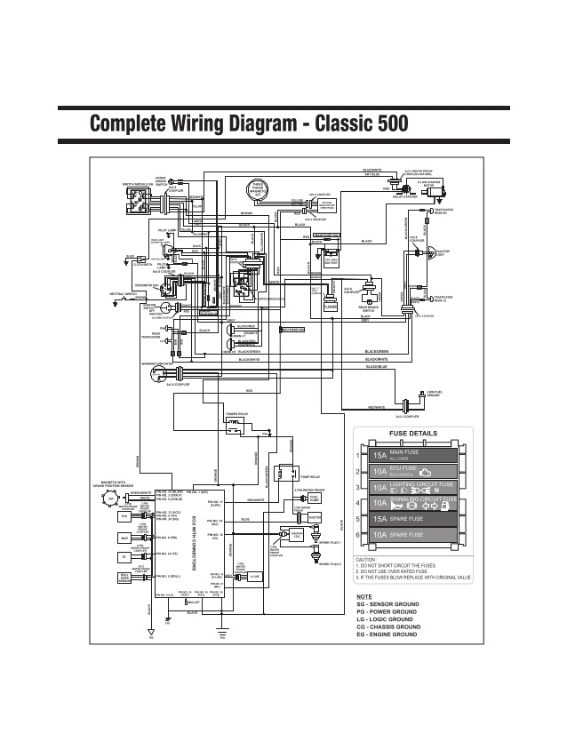 Royal Enfield Classic 350 Electrical Wiring Diagram