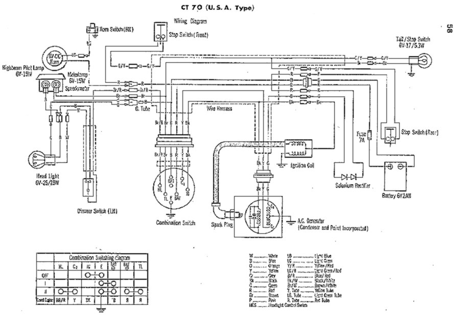 1972 Honda Trail 70 Wiring Diagram