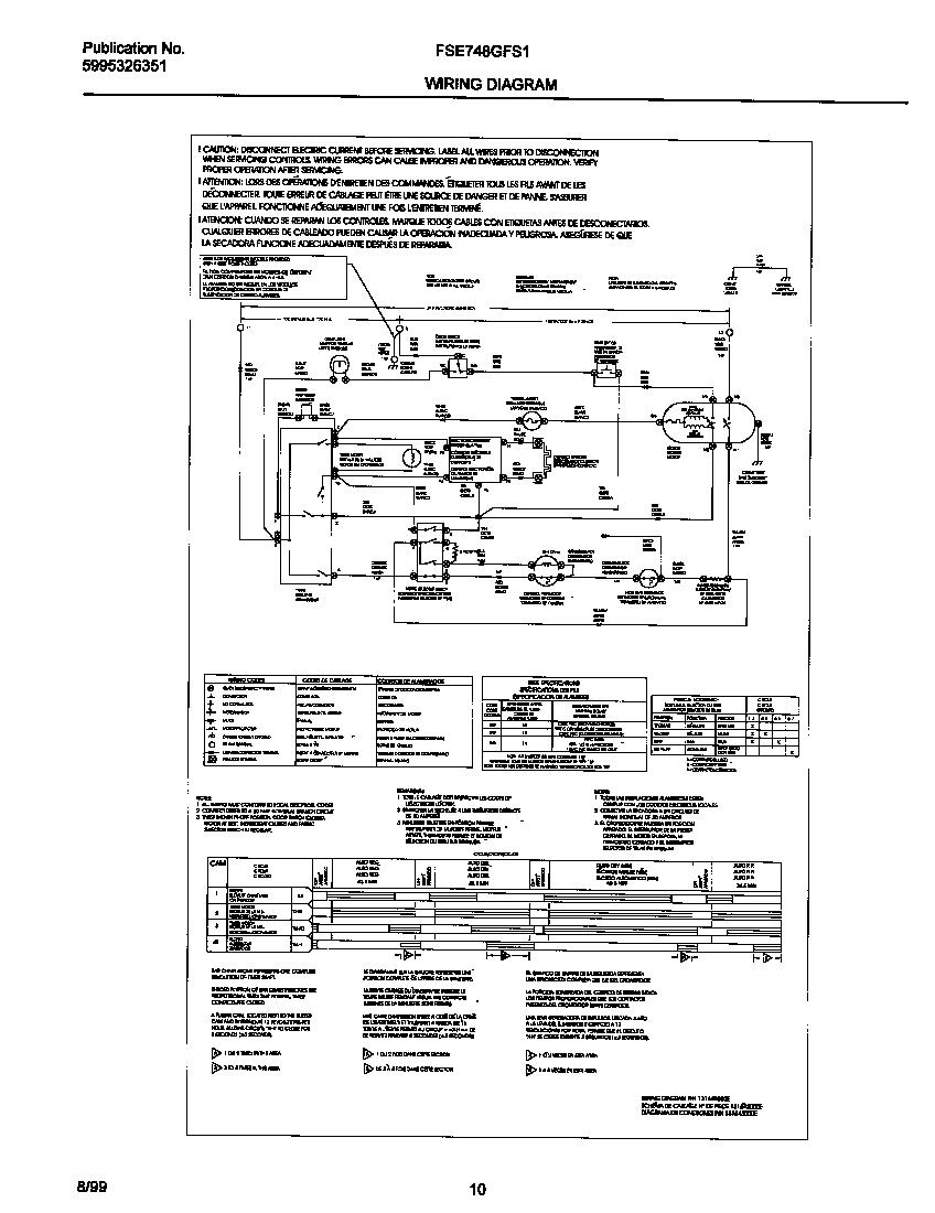 Sf 9466 Frigidaire Clothes Dryer Wiring Diagram Wiring Diagram