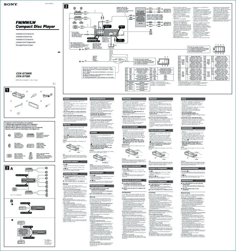 to3892 sony cdx gt40u wiring diagram wiring diagram