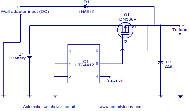 Magnificent Automatic Changeover Circuit Electronic Circuits And Diagrams Wiring Cloud Apomsimijknierdonabenoleattemohammedshrineorg