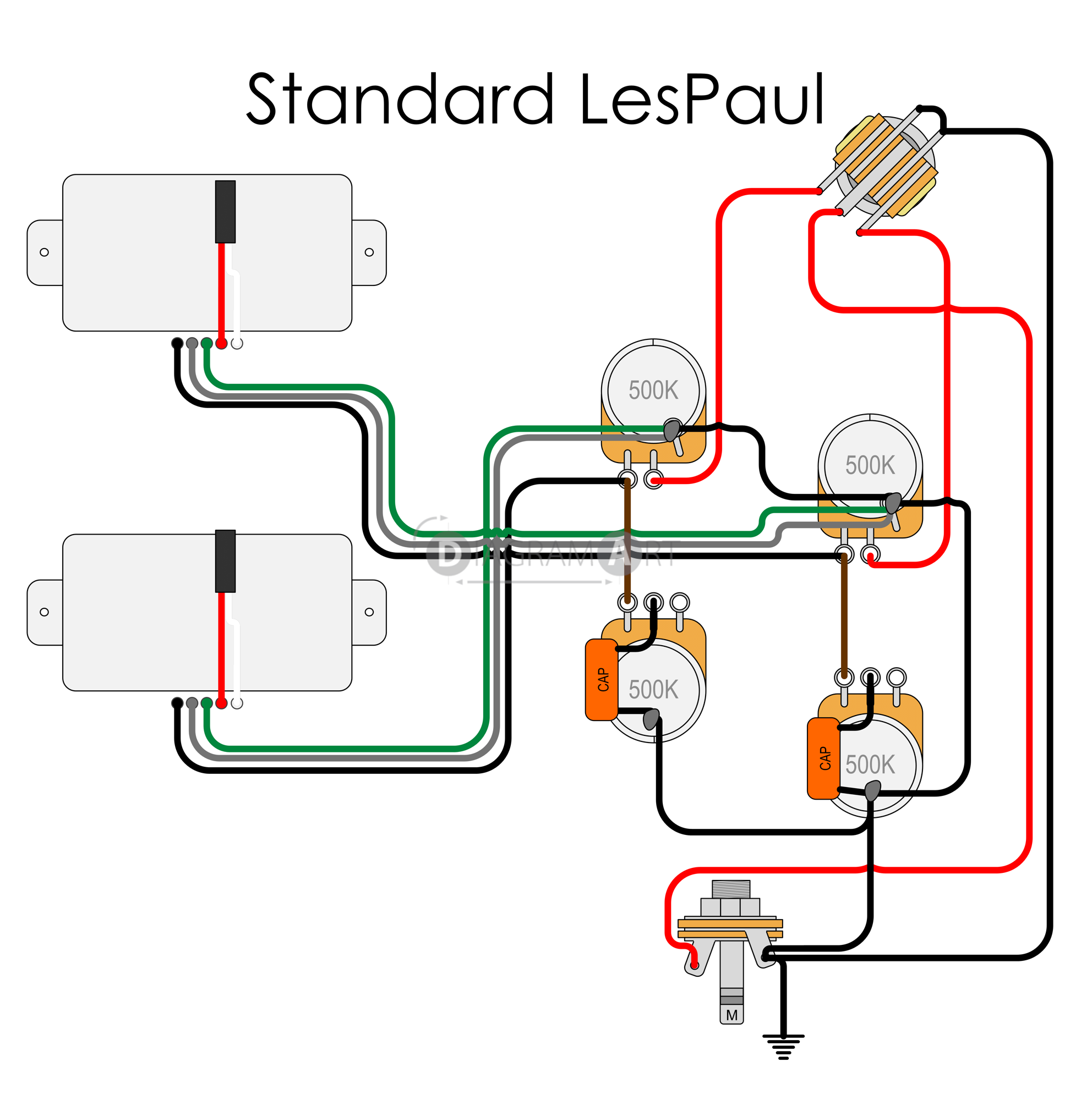 Wiring Diagram For Epiphone Les Paul Standard - Wiring Diagram