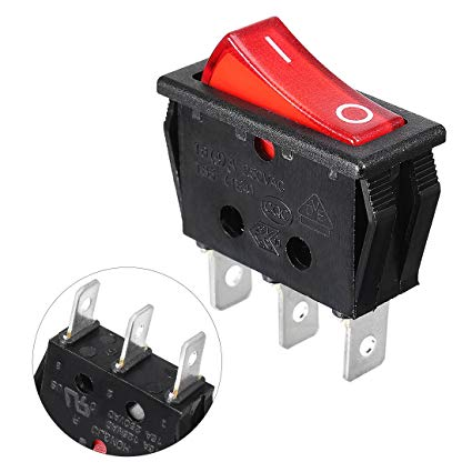 Fine Uxcell Red Illuminated Light On Off Spst Boat Rocker Switch 16A 250V Wiring Cloud Onicaalyptbenolwigegmohammedshrineorg