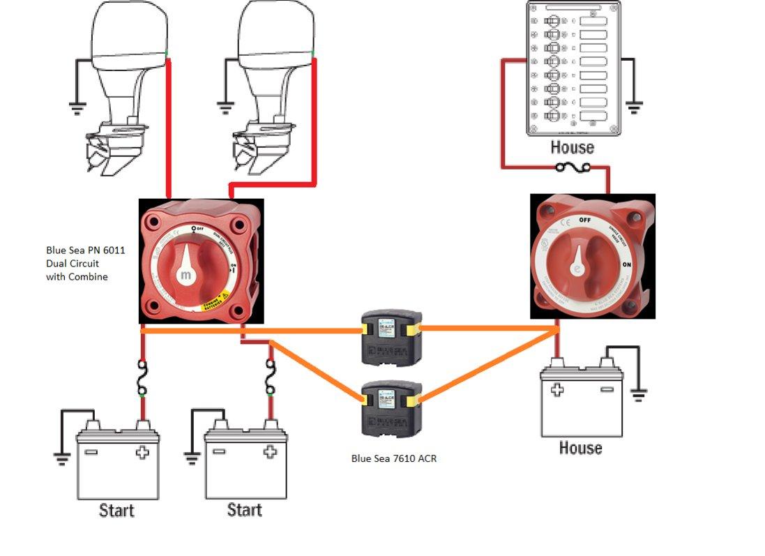 yamaha jet boat dual battery wiring diagram af 0164  battery twin outboard wiring diagram page 2 the hull  battery twin outboard wiring diagram
