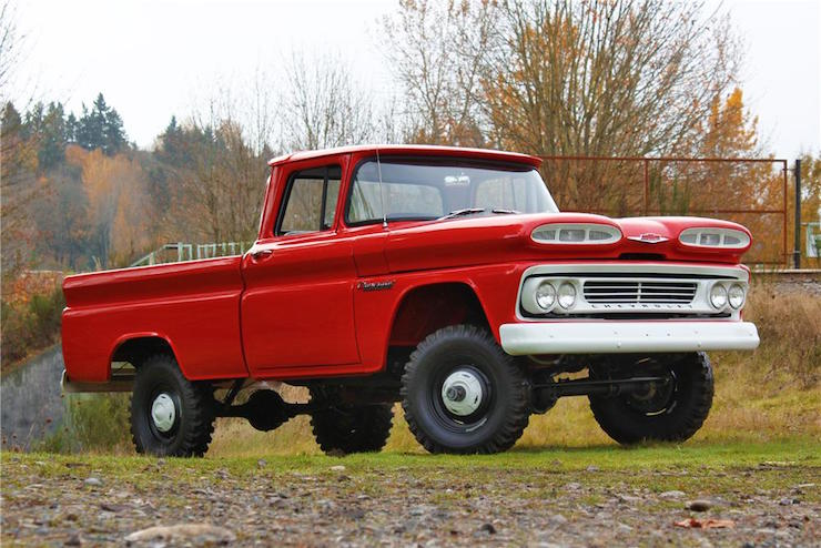 No 0972  1965 Chevy C10 Stepside Short Bed On 1961 Chevy
