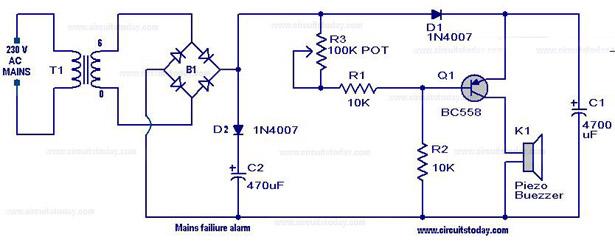 ze2490 power supply failure alarm circuit diagram