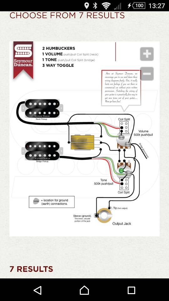 Duncan Designed Humbucker Wiring Diagram