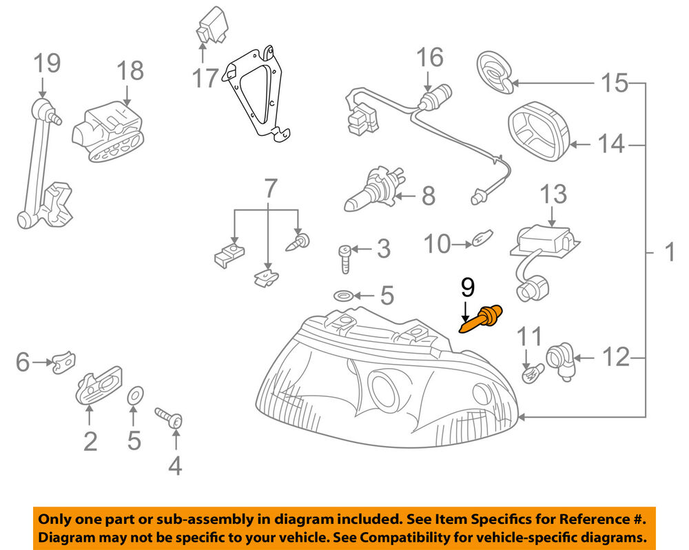 Superb Audi Oem 00 10 A8 Quattro Headlight Headlamp Bulb N10445701 Ebay Wiring Cloud Lukepaidewilluminateatxorg